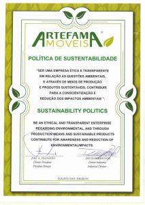 política de sustentabilidade Artefama
