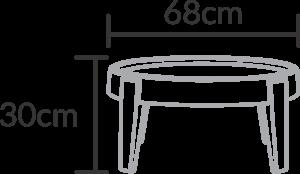 mesa de centro Penha pequena