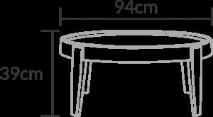 mesa de centro Penha grande